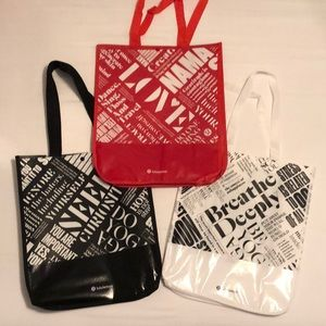 3 New Large Lululemon Sp Edition Patent Tote Bags